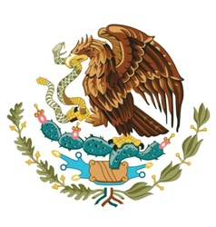 coat of arms of Mexico vector image vector image