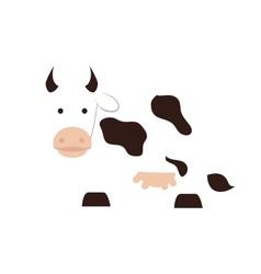 Cow animal milk icon graphic vector