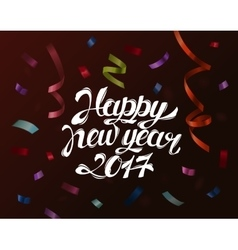 Falling paper confetti for new year and christmas vector