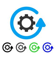 Gearwheel rotation direction flat icon vector