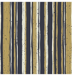 Golden stripes and black lines with chaotic dots vector image