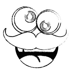 Mask funny mustache vector