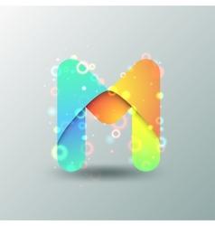 Modern Capital Letter M vector image