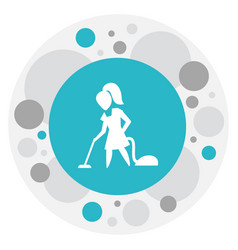of hygiene symbol on vacuuming vector image