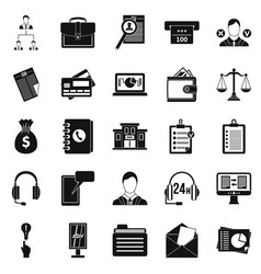 online banking icons set simple style vector image vector image