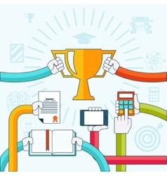 Online education personal development concept vector