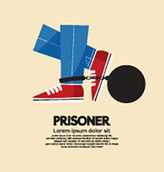 Prisoners iron ball vector