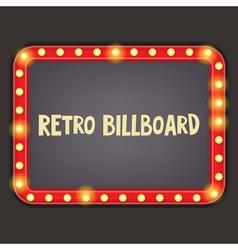 retro billboard vector image