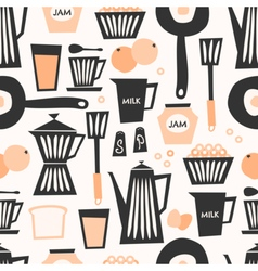 Seamless Breakfast Pattern vector image