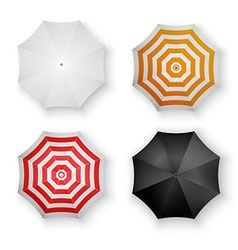 Set of Colorful Umbrellas Isolated vector image