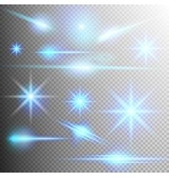 Set of glow light effect eps 10 vector