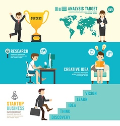 Startup business design concept people set vector