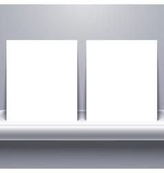 white blank tablet on shelf vector image