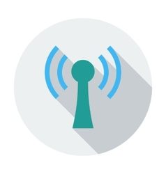 Wireless single flat icon vector image vector image