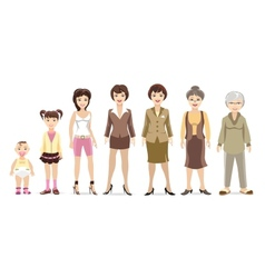 Woman generations vector