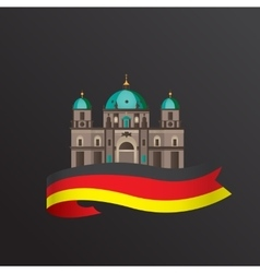 Flat icon of german berlin cathedral vector