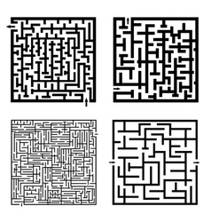 Set of four labyrinths vector