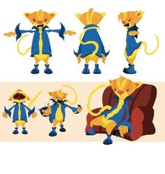 yellow cat character sheet vector image