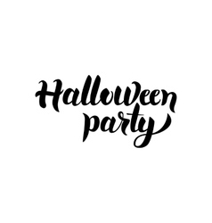 Halloween party handwritten lettering vector