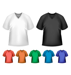 Black and white and color men polo t-shirts design vector