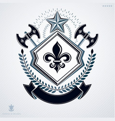 vintage emblem made in heraldic design and vector image
