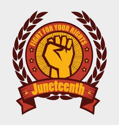 juneteenth awareness design vector image
