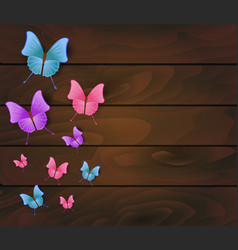 Wooden planks with beautiful multicolored vector