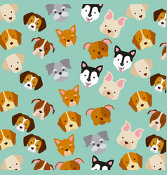 Icon set love dogs vector