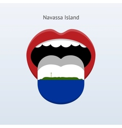 Navassa island language abstract human tongue vector