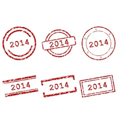 2014 stamps vector image