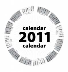 Simple creative calendar of 2011 vector