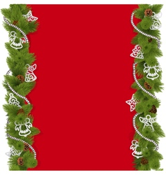 Christmas background with beads vector