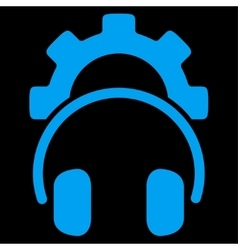 Headset configuration icon vector
