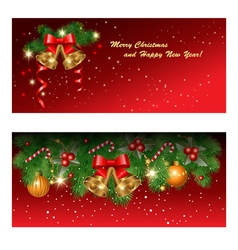 Red greetings cards vector