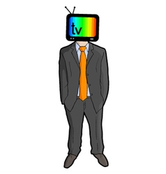television man vector image