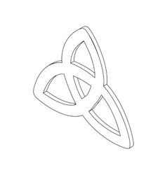 Triquetra icon isometric 3d vector image