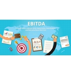 Ebitda earnings before interest vector