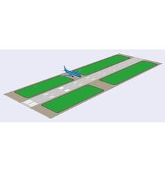 Airport runway vector image vector image