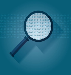 Big data Binary data search vector image vector image
