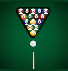 billiard balls vector image