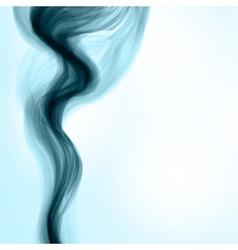 Blue smoke background vector