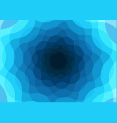 blue waves background design vector image