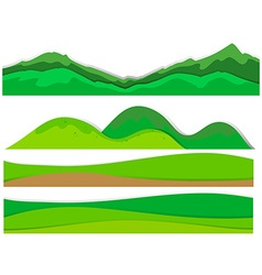 Different view of mountains vector image