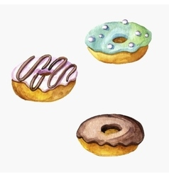 Donuts drawing in watercolor vector