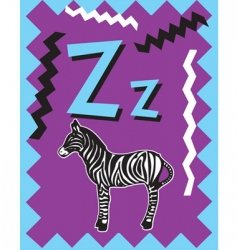 flash card z vector image