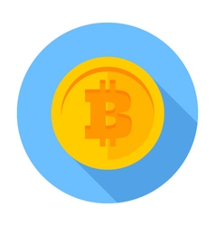 Flat icon Bitcoin vector image