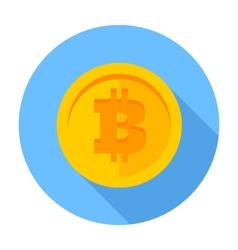 Flat icon Bitcoin vector image vector image