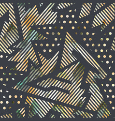 geometric seamless pattern with grunge effect vector image vector image