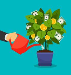 growing money tree vector image