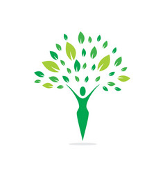 Health and nature logo vector